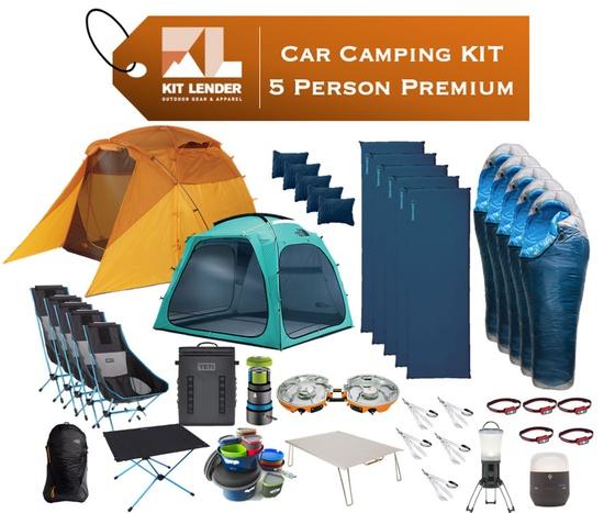 Car Camping KIT - 5 Person - [PREMIUM]