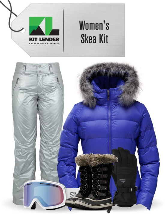 Women's - Skea (Blue Violet with Fur) - [Complete Outwear KIT with Snow Boots]
