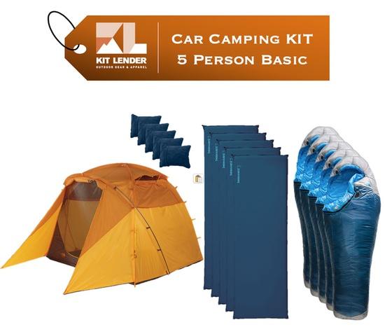 Car Camping KIT - 5 Person - [BASIC]