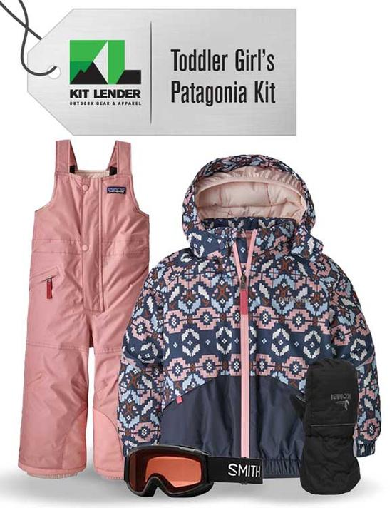 [Complete Outerwear KIT] - Toddler Girls - Patagonia  (Blue Pattern)