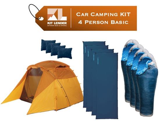 Car Camping KIT - 4 Person - [BASIC]