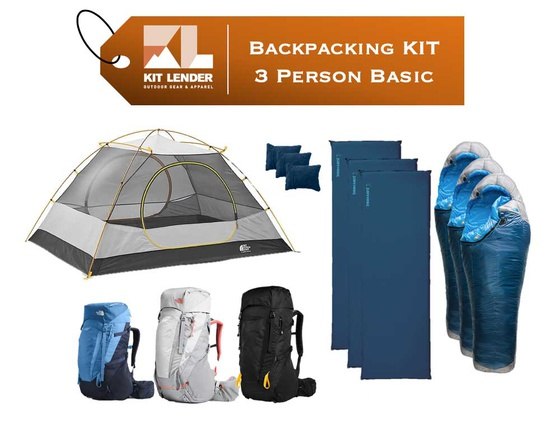 Backpacking KIT - 3 Person - [BASIC]