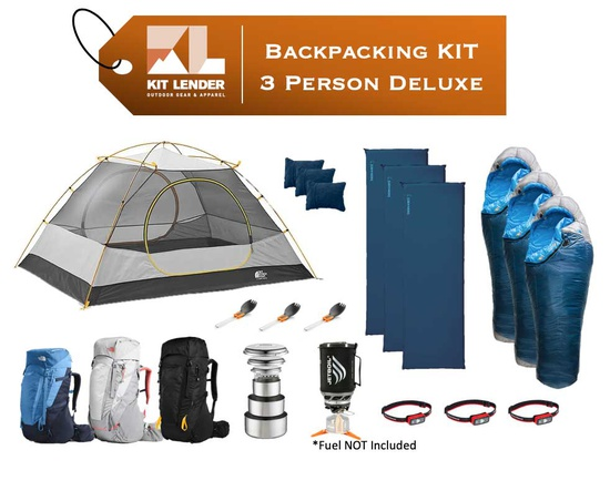 Backpacking KIT - 3 Person - [DELUXE]