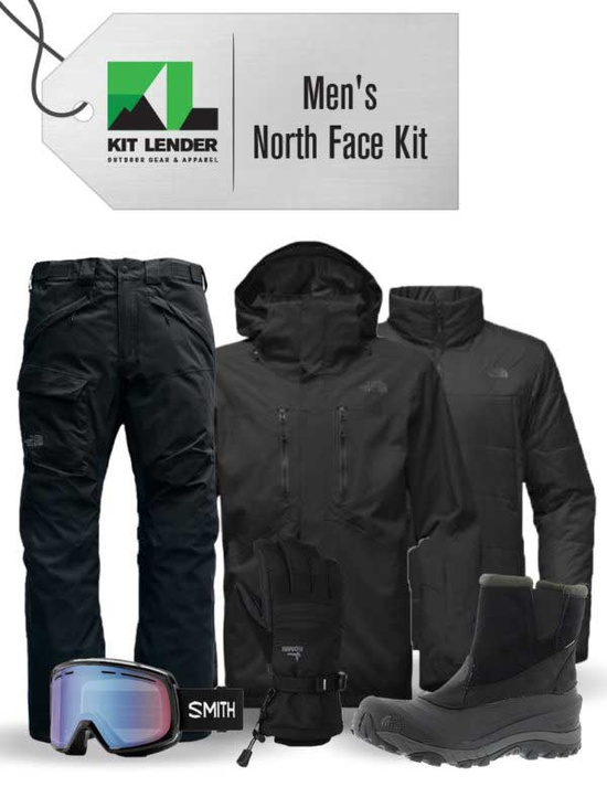 [Complete Outerwear with Boots KIT ] - Mens - The North Face (Black / 3-in-1)