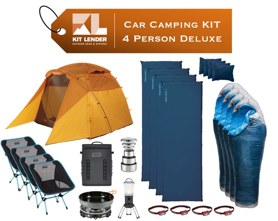 Car Camping KIT - 4 Person [DELUXE]