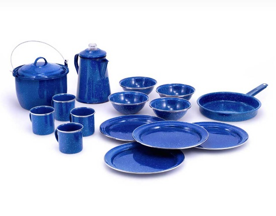 [Enamelware] - GSI (Blue Pioneer Camp Set)
