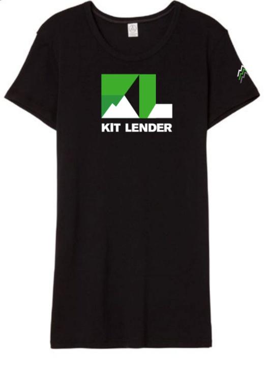 [T-Shirt] - Women's - Kit Lender (Black Full Color w/ 3 Peaks Sleeve)