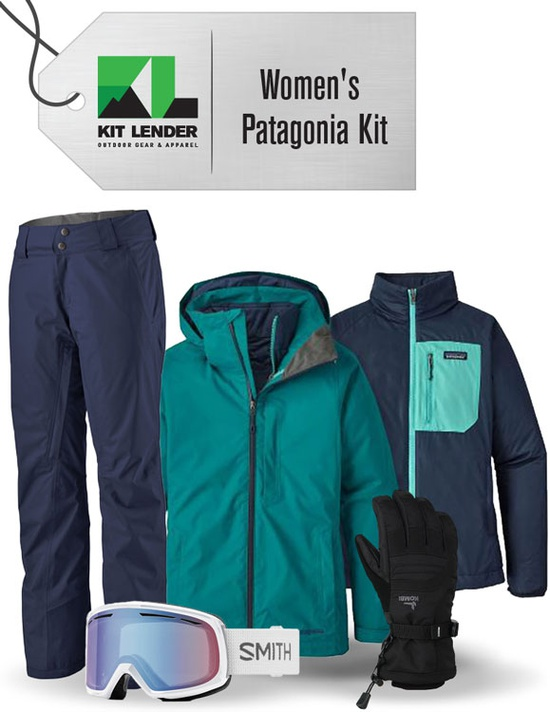 [Complete Outerwear KIT] - Womens - Patagonia  (Teal /  3-in-1)