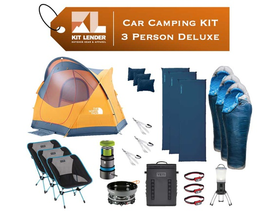 Car Camping KIT - 3 Person - [DELUXE]